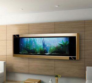 Bể cá treo tường kích thước lớn cho phòng khách