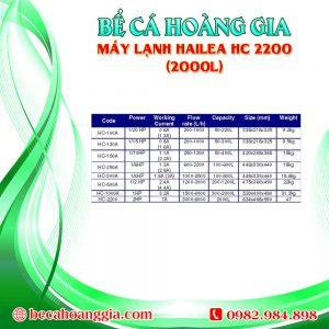 Máy lạnh Hailea HC 2200 (2000L)