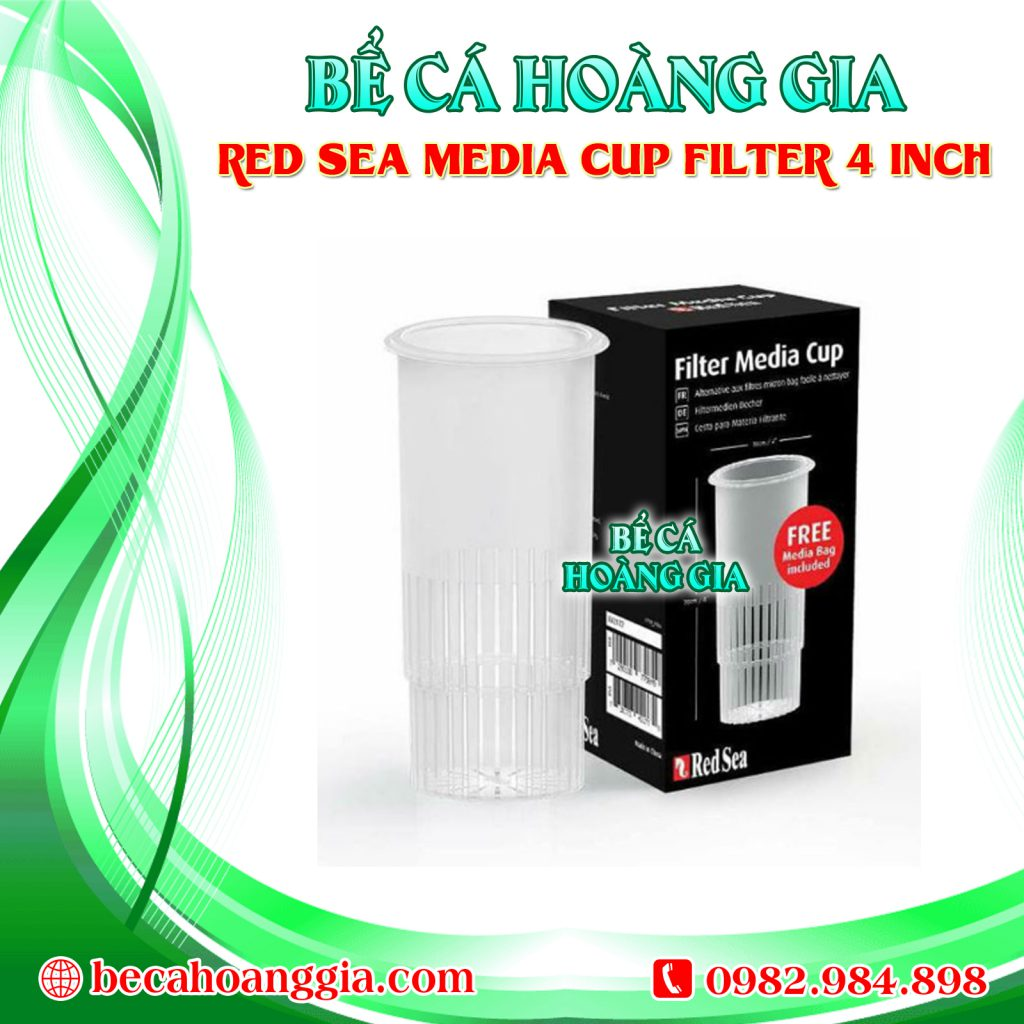 RED SEA MEDIA CUP FILTER 4 INCH