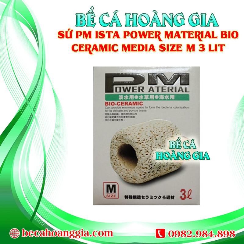 SỨ PM ISTA POWER MATERIAL BIO CERAMIC MEDIA SIZE M 3LIT