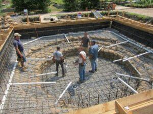 xây dựng lớp nền bể cá
