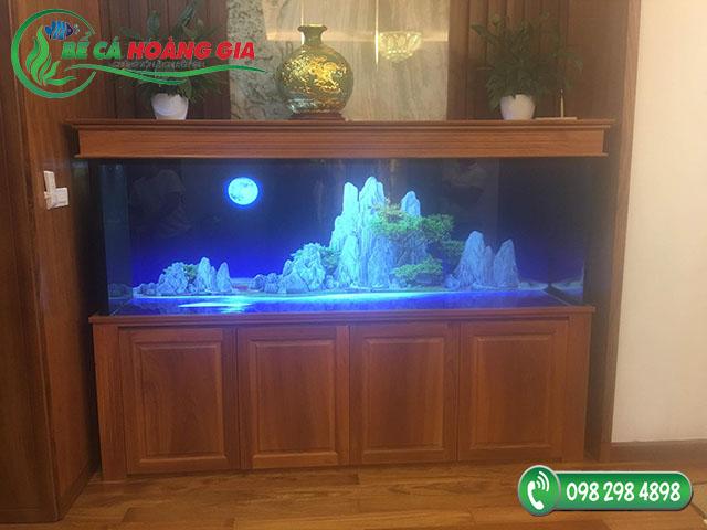 Bể cá rồng nhà anh Hợi ở Đống Đa, Hà Nội