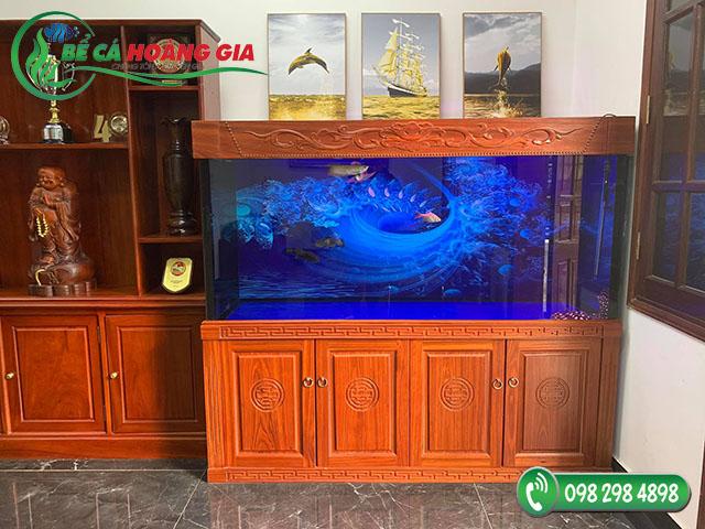Bể cá rồng nhà anh Hữu ở Vĩnh Phúc